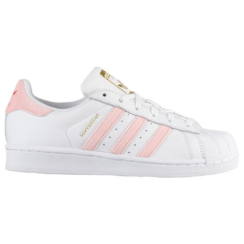 adidas Originals Superstar - Girls' Grade School - Casual - Shoes -  White/Trace Pink/Gold Metallic