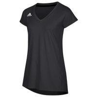 adidas Team Hi-Lo Cap Sleeve Jersey - Women's - Black