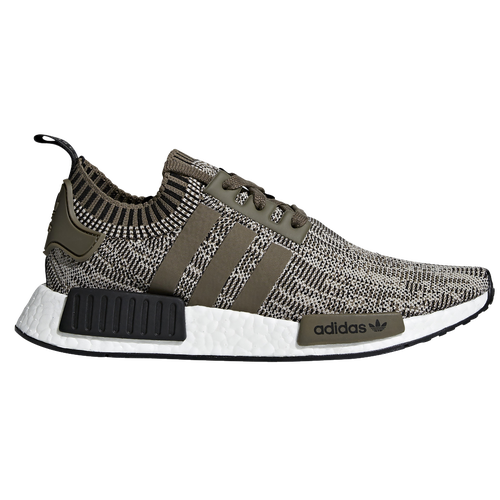 adidas Originals NMD R1 Primeknit - Men\u0027s - Off-White / Olive Green
