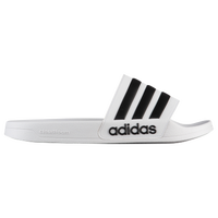 adidas Adilette Shower Slide - Men's - White / Black