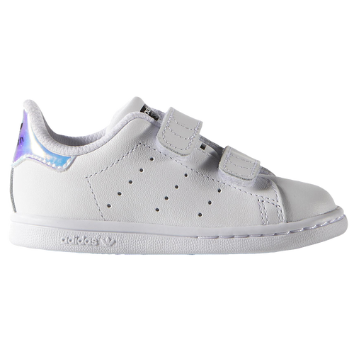 adidas Originals Stan Smith - Girls' Toddler - Casual - Shoes - Silver  Metallic/White/White