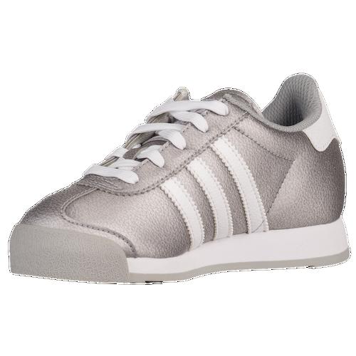 adidas Originals Samoa - Girls' Preschool - Casual - Shoes - Grey/White/Grey