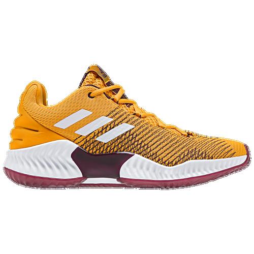 adidas Pro Bounce Low 2018 - Men s - Basketball - Shoes - Gold White ... 1e02eae29491