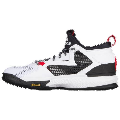 adidas D Lillard 2.0 - Men's - Basketball - Shoes - Damian Lillard - White/ Black/Scarlet