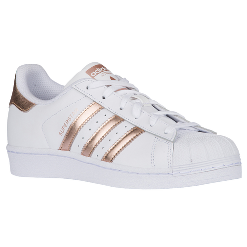 adidas Originals Superstar - Women\u0027s - Basketball - Shoes - White/Copper  Metallic/White