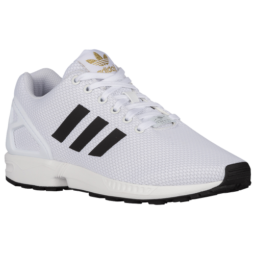 adidas Originals ZX Flux - Men's - Casual - Shoes - White/Black/Gold  Metallic