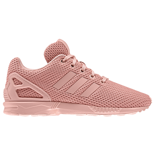 10ec05f3742c 85%OFF adidas Originals ZX Flux Girls Preschool Running Shoes Coral ...