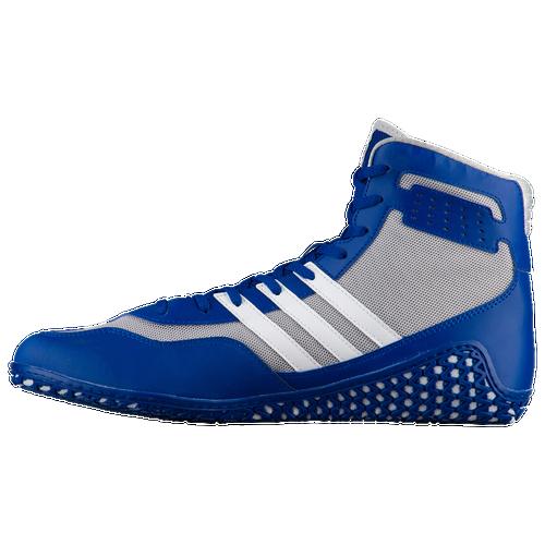 Adidas Mat mago hombres zapatos de lucha Royal / blanco / gris