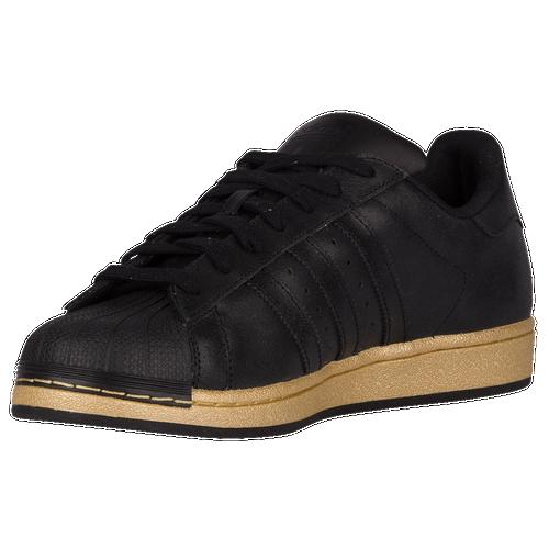 adidas Originals Superstar - Men's - Casual - Shoes - Black/Black/Gold  Metallic