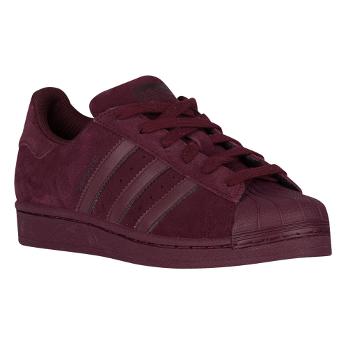 adidas Originals Superstar - Boys' Grade School - Casual - Shoes - Maroon/ Maroon/Dark Burgundy