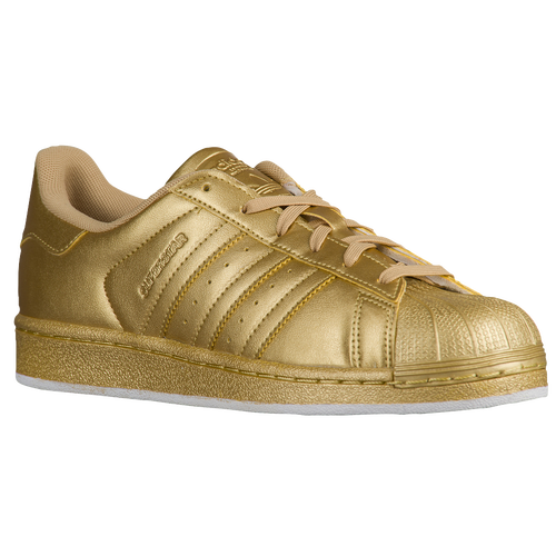 adidas Originals Superstar - Women's - Casual - Shoes - Gold Metallic/Gold Metallic