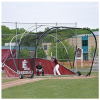 Jaypro Grand Slam Portable Batting Cage - Red / White