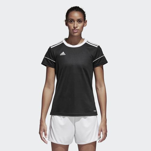 adidas Team Squadra 17 Short Sleeve Jersey - Women's Soccer - Black/White BJ9202