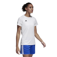adidas Team Squadra 17 Short Sleeve Jersey - Women's - All White / White