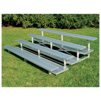 Trigon Low Rise Aluminum Bleachers