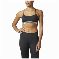 adidas Three Stripe Low Impact Bra - Women's - Black / White