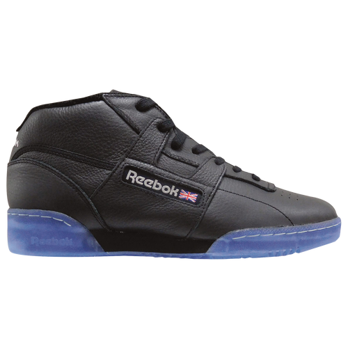 Reebok Workout Mid Clean BWI - Men's - Casual - Shoes - Black/Steel/Excellent  Red/Ice