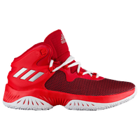 adidas Crazy Explosive Bounce - Boys' Grade School - Red / Silver