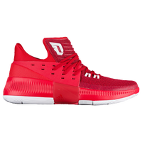 adidas Dame 3 - Men's -  Damian Lillard - Red / White