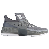 adidas Dame 3 - Men's -  Damian Lillard - Grey / White