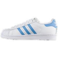 adidas Originals Superstar - Women\u0027s - White / Light Blue