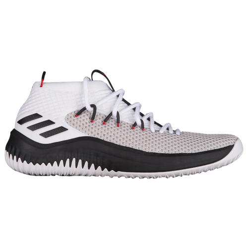 adidas Dame 4 - Men's - Basketball - Shoes - Damian Lillard -  White/Black/Scarlet