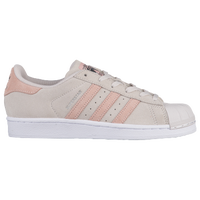 adidas Originals Superstar - Girls' Grade School - Grey / Pink
