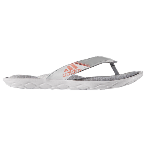 adidas Anyanda Flex Thong - Women's Casual - Medium Grey Heather/Tech Rust Metallic/White BZ0677