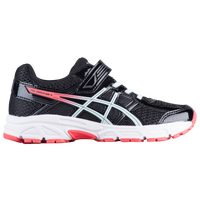 ASICS® PRE-Contend 4 - Girls' Preschool - Black / White