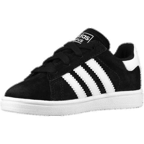 adidas Originals Campus 2 - Boys' Toddler - Training - Shoes - Black/White/ Black/Black