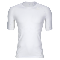 adidas ALPHASKIN S/S Compression T-Shirt - Men's - All White / White