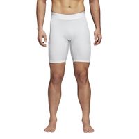 "adidas ALPHASKIN 9"" Compression Shorts - Men's - All White / White"