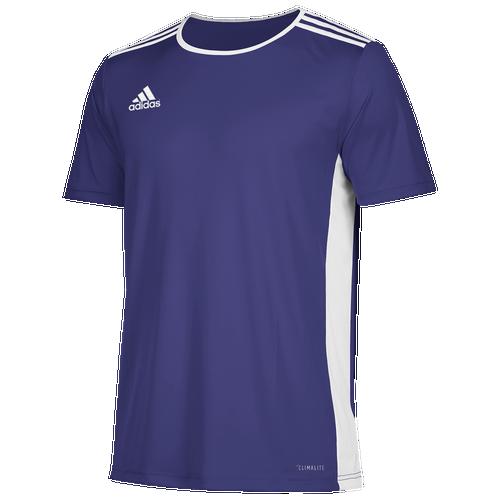 adidas Team Entrada 18 S/S Jersey - Men's Soccer - Collegiate Purple/White CD8374