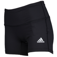 "adidas Team Climalite Techfit 4"" Shorts - Girls' Grade School - Black / White"