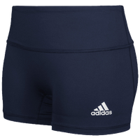 "adidas Team Climalite Techfit 4"" Shorts - Girls' Grade School - Navy"
