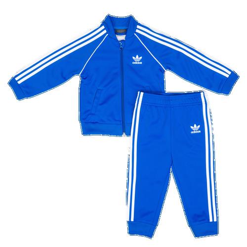 adidas originals adicolor superstar track set boys 39 infant casual clothing blue. Black Bedroom Furniture Sets. Home Design Ideas