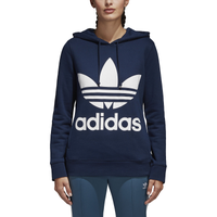 adidas Originals Adicolor Trefoil Hoodie - Women's - Navy / White