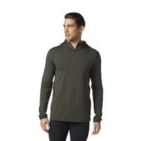 adidas Techfit Cold Weather 1/4 Zip Hoodie - Men's - Olive Green / Olive Green