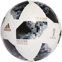adidas World Cup 2018 Top Glider Soccer Ball - White / Black