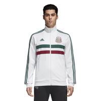 adidas 3 Stripes Track Jacket - Men's - Mexico - White / Dark Green