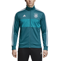 adidas 3 Stripes Track Jacket - Men's - Germany - Aqua / White