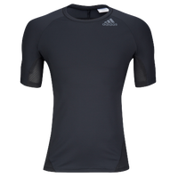 adidas ALPHASKIN S/S Compression T-Shirt - Men's - Black / Black