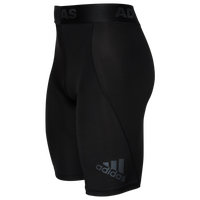 "adidas ALPHASKIN 9"" Compression Shorts - Men's - Black / Black"