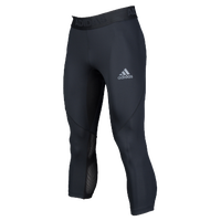 adidas ALPHASKIN 3/4 Compression Tights - Men's - Black / Black
