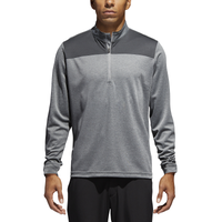 adidas Lightweight UPF 1/4 Zip Golf Pullover - Men's - Grey