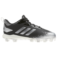 adidas Afterburner V MD - Boys' Grade School - Black / Silver