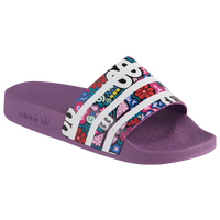 adidas Adilette Slide - Women's - Purple / Multicolor