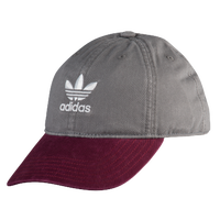 adidas Originals Relaxed Strapback Hat - Women's - Grey / Maroon