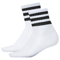 adidas quarter socks. adidas originals 3-pack 3-stripe quarter socks - women\u0027s white / black