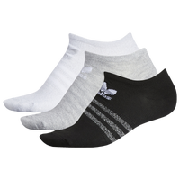 adidas Originals Sheen 3-Pack No Show Socks - Women's - White / Grey